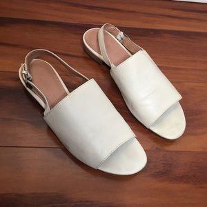 Madewell Noelle Slingback Sandals IVORY 8.5